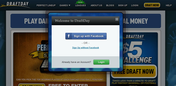 Draftday Sign Up