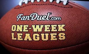 FanDuel Fantasy Football One Week Leagues