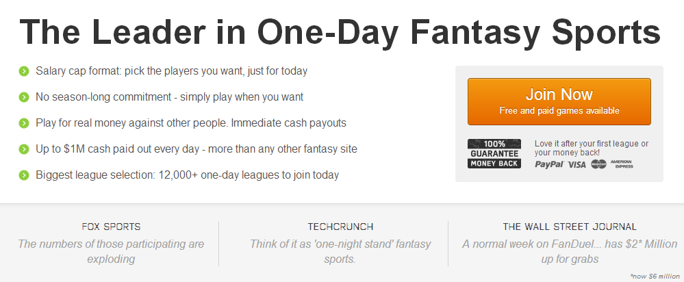 Fantasy Football One Week Leagues